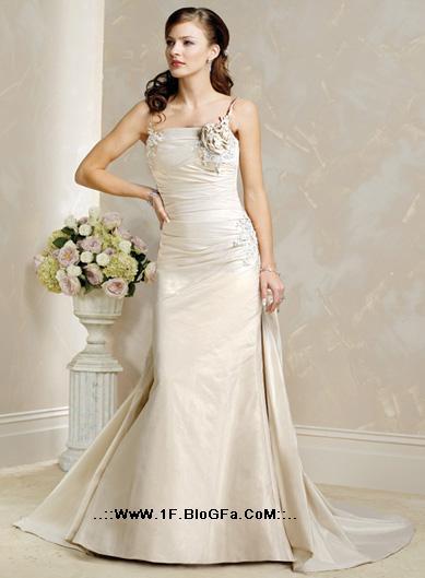 Онлайн Свадебные платья Онлайн бретельках Hand Made Цветочный тафта...